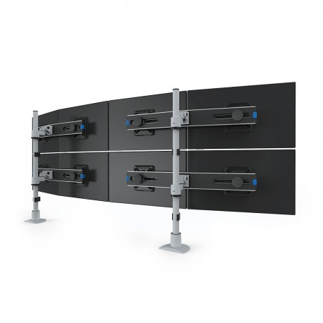 Quad LCD Monitor Arm with 28 Pole - Low Profile