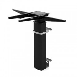 501-19 Electric Adjustable Height Desk Base (wall mount), Black Frame