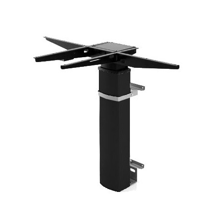 501-19 Electric Adjustable Height Desk Base (wall mount), Black Frame