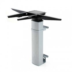 501-19 Electric Adjustable Height Desk Base (wall mount), Silver Frame
