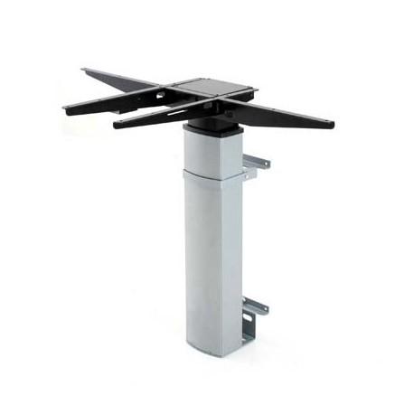 501-19 Electric Adjustable Height Desk Base (wall mount), Silver Frame