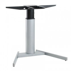 501-19V Electric Lift Adjustable Height Desk Base, Silver Frame