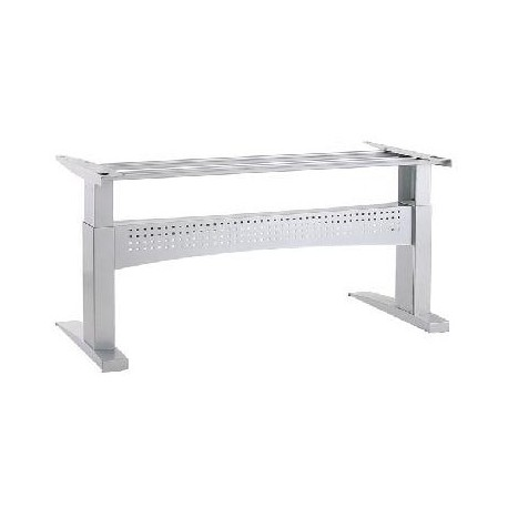 ConSet 501-11 Sit Stand Adjustable Height Electric Desk Base , Silver