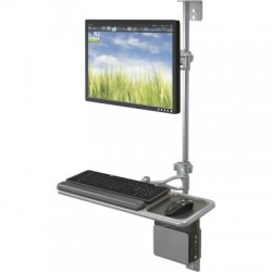 Monitor and Keyboard Wall Mount Workstation - Economy