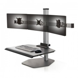 Innovative Winston Triple Freestanding Sit-Stand Workstation