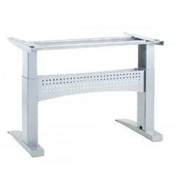 ConSet 501-11 Electric Adjustable Height Desk Base, Silver Frame
