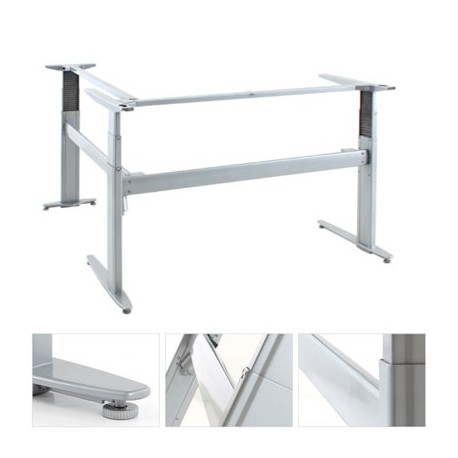 ConSet 501-27 Sit Stand Adjustable Height Electric Desk Base