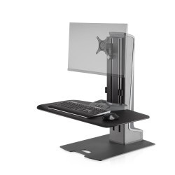 Winston-E Sit-Stand Workstation Single Monitor Mount with Compact Work Surface
