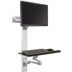 LCD Monitor and Keyboard Wall Mount Workstation - Titan Edge
