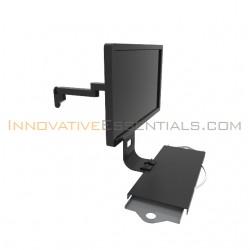 Innovative 9110-8-4-8209 LCD Monitor Wall Mount with Keyboard Tray