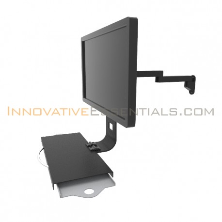 lcd wall mount with keyboard tray. Black Bedroom Furniture Sets. Home Design Ideas