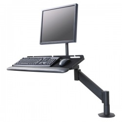 Innovative 9139 LCD Monitor and Keyboard Mount for Data Entry