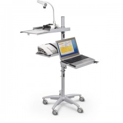 Alpha Mobile Laptop Cart, Workstation